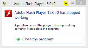Adobe-Flash-player-15.0-has-stopped-Working
