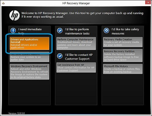 HP-recovery-manager