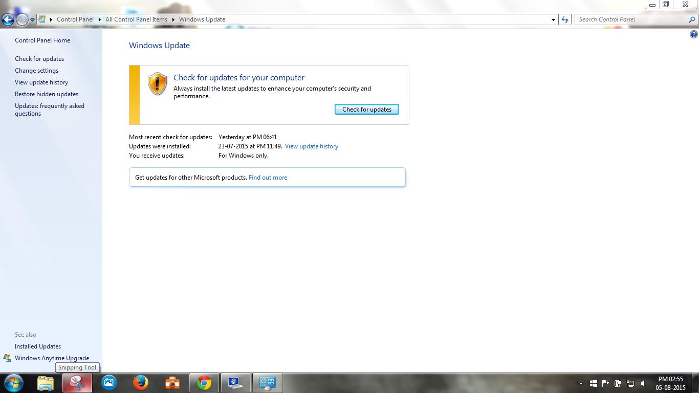 Updates Windows 10